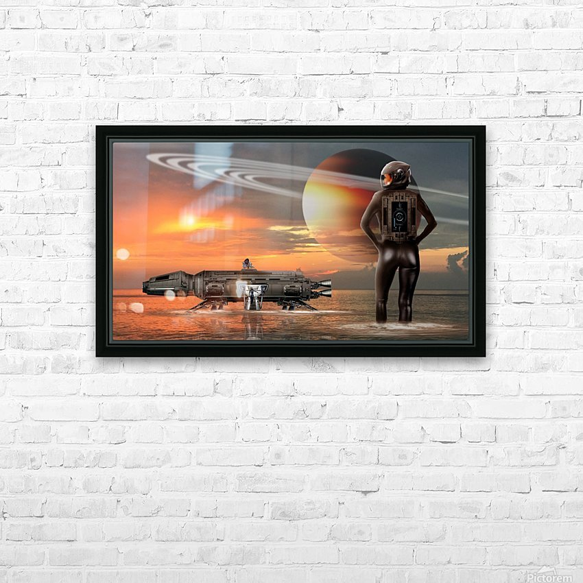 Waterworld HD Sublimation Metal print with Decorating Float Frame (BOX)
