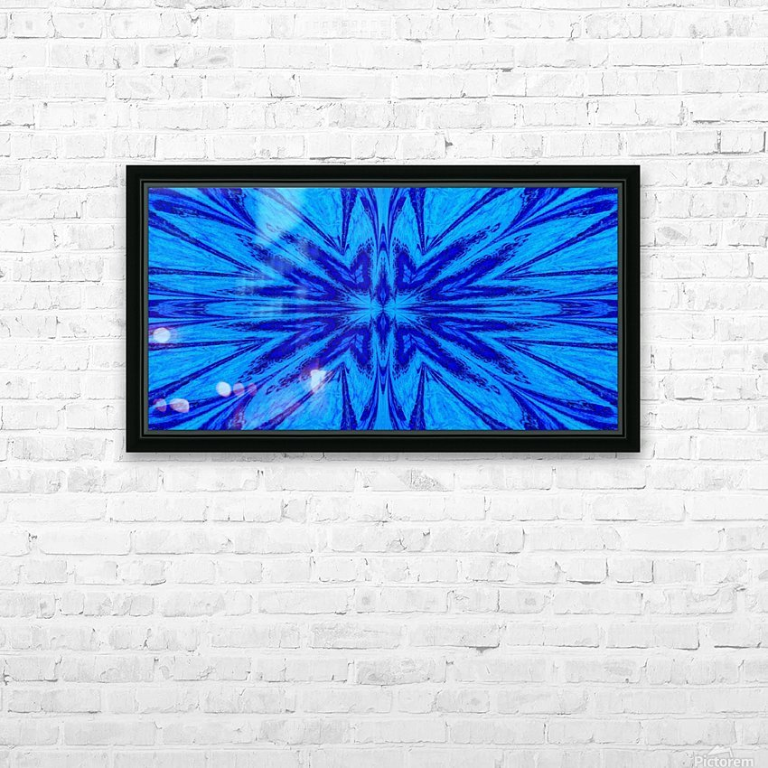 A Blue Wildflower 4 HD Sublimation Metal print with Decorating Float Frame (BOX)