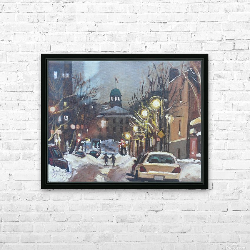 McGill Ghetto Night Scene HD Sublimation Metal print with Decorating Float Frame (BOX)