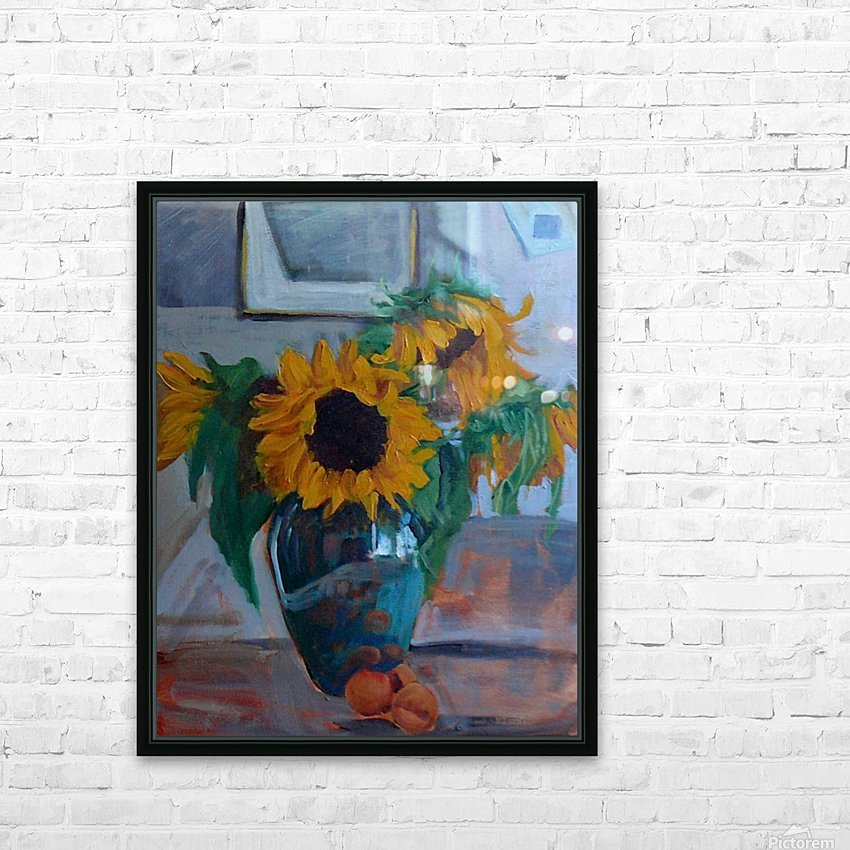 sunflowers home HD Sublimation Metal print with Decorating Float Frame (BOX)