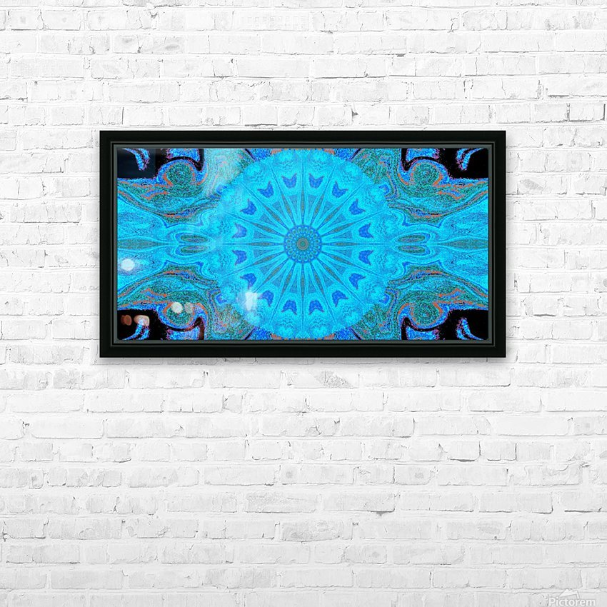 Blue Wildflower in Light HD Sublimation Metal print with Decorating Float Frame (BOX)