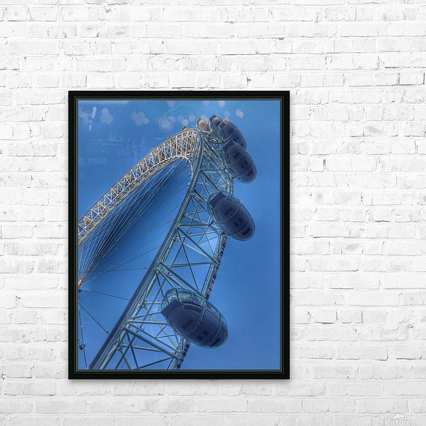 London Eye HD Sublimation Metal print with Decorating Float Frame (BOX)