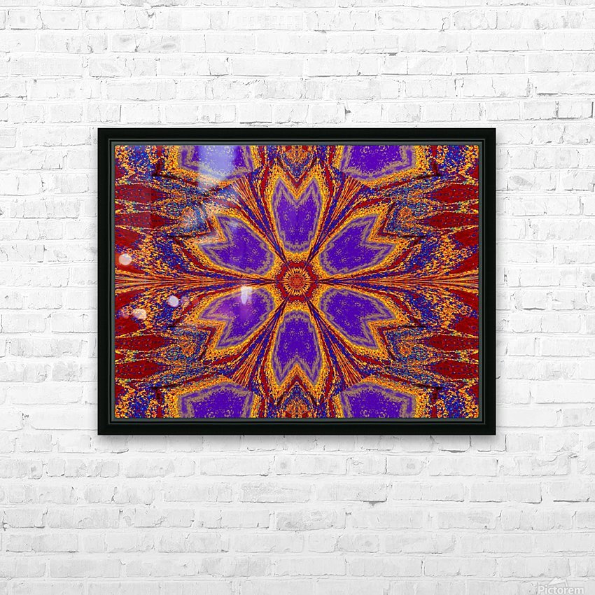 Orange and Blue Dawn HD Sublimation Metal print with Decorating Float Frame (BOX)