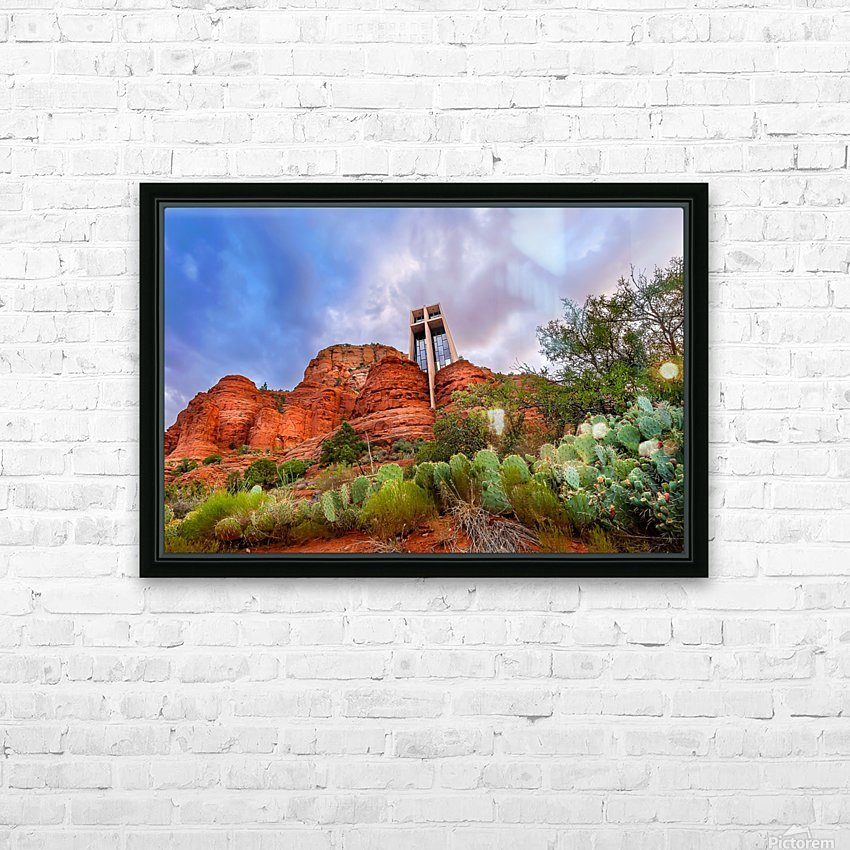 Chapel of the Holy Cross HD Sublimation Metal print with Decorating Float Frame (BOX)