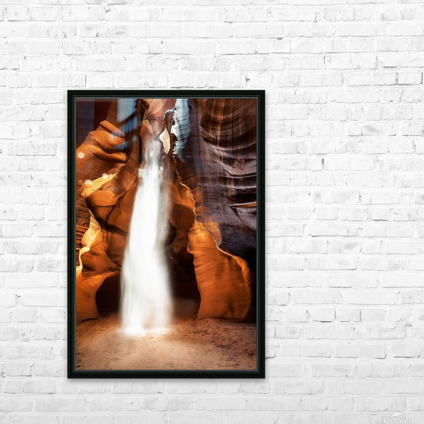Slot Canyon Light Beam HD Sublimation Metal print with Decorating Float Frame (BOX)