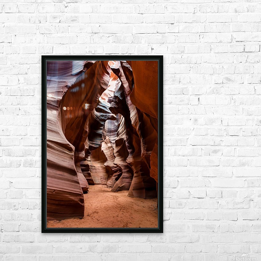 Upper Antelope Canyon 1 HD Sublimation Metal print with Decorating Float Frame (BOX)