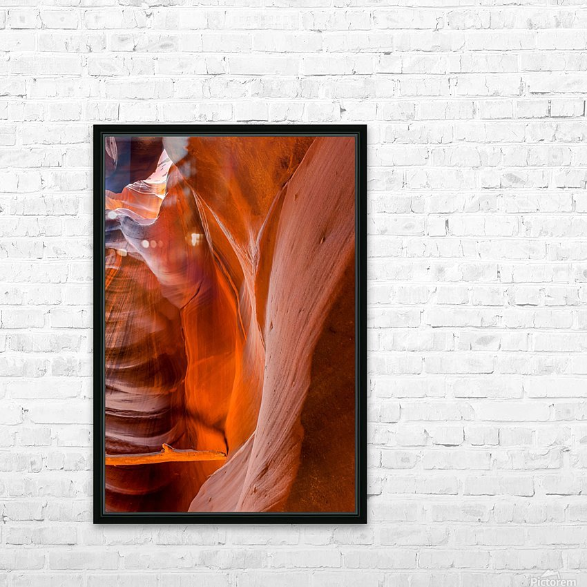 Upper Antelope Canyon 4 HD Sublimation Metal print with Decorating Float Frame (BOX)