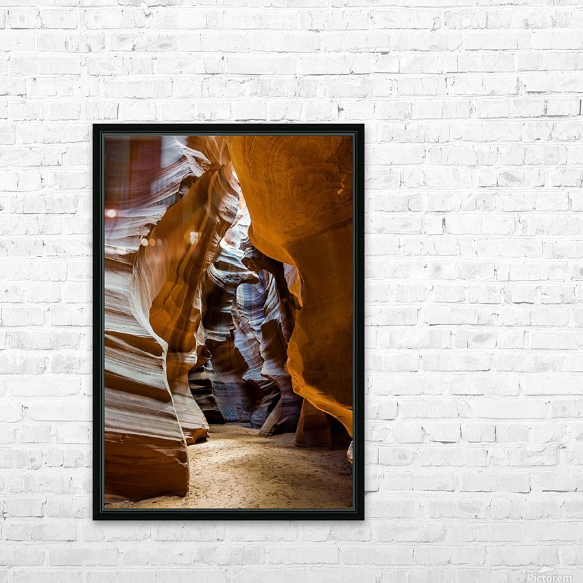 Upper Antelope Canyon 5 HD Sublimation Metal print with Decorating Float Frame (BOX)