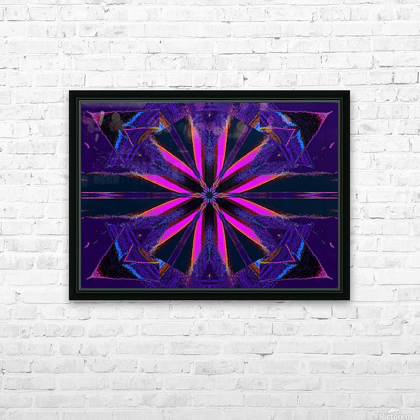 Pink Glow Wildflower HD Sublimation Metal print with Decorating Float Frame (BOX)