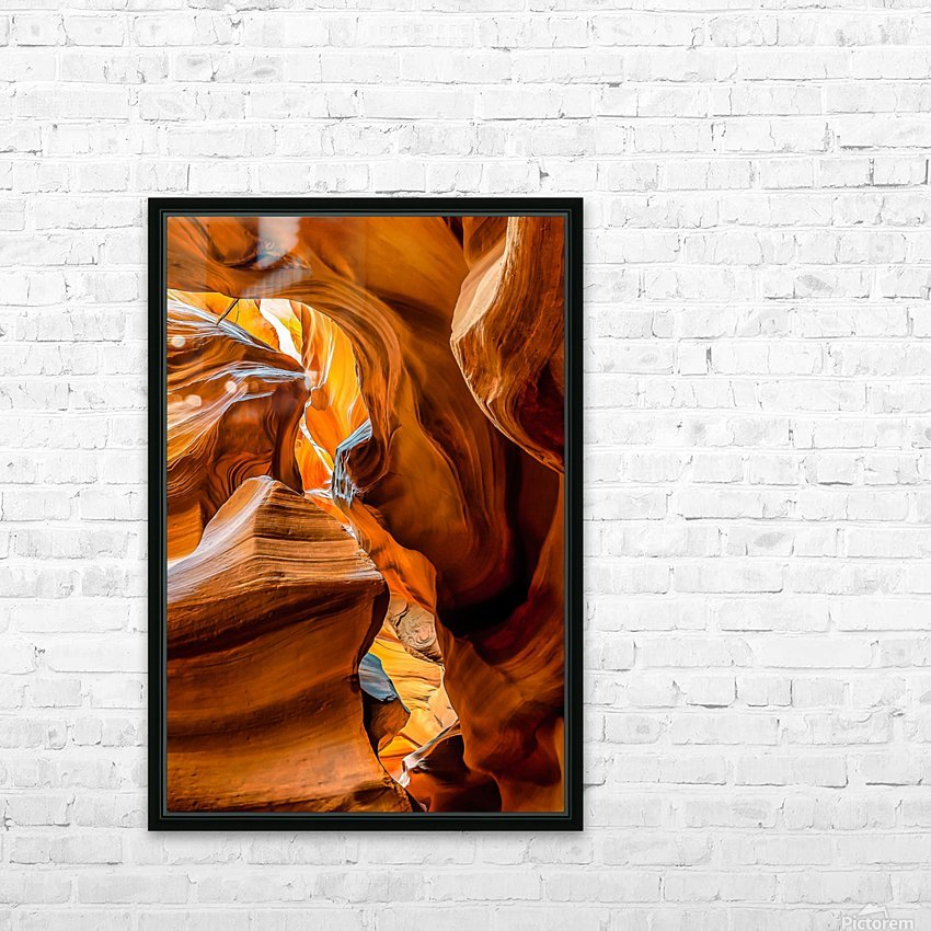 Upper Antelope Canyon 7 HD Sublimation Metal print with Decorating Float Frame (BOX)