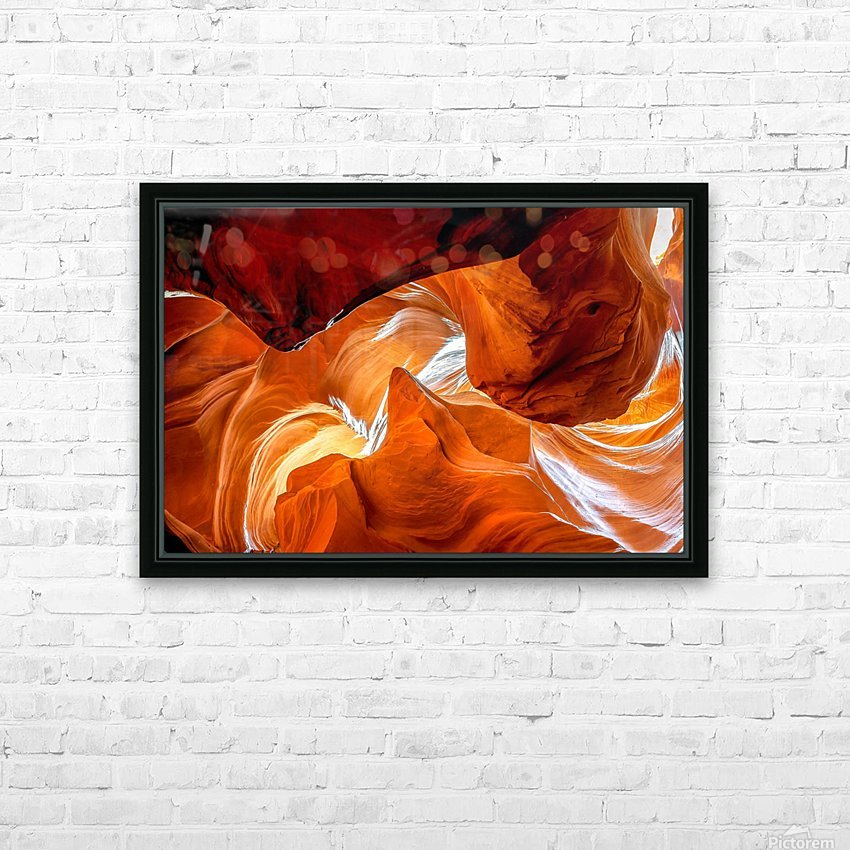 Upper Antelope Canyon 8 HD Sublimation Metal print with Decorating Float Frame (BOX)