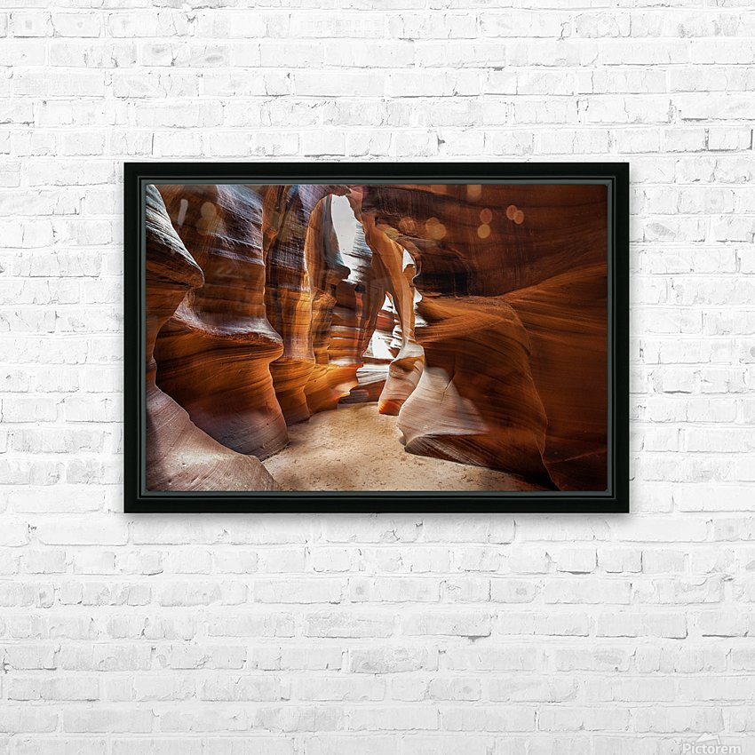 Upper Antelope Canyon 9 HD Sublimation Metal print with Decorating Float Frame (BOX)