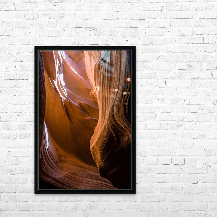 Upper Antelope Canyon 12 HD Sublimation Metal print with Decorating Float Frame (BOX)