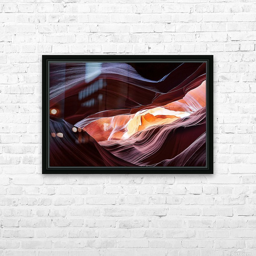 Upper Antelope Canyon 13 HD Sublimation Metal print with Decorating Float Frame (BOX)