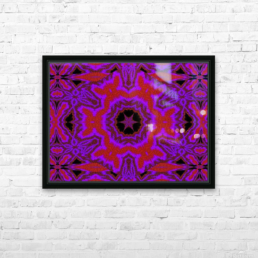 Purple Wind Flower 3 HD Sublimation Metal print with Decorating Float Frame (BOX)