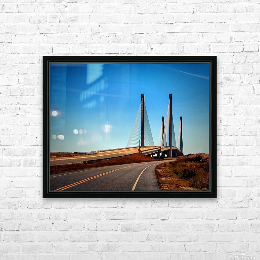 Indian River Bridge North Approach HD Sublimation Metal print with Decorating Float Frame (BOX)