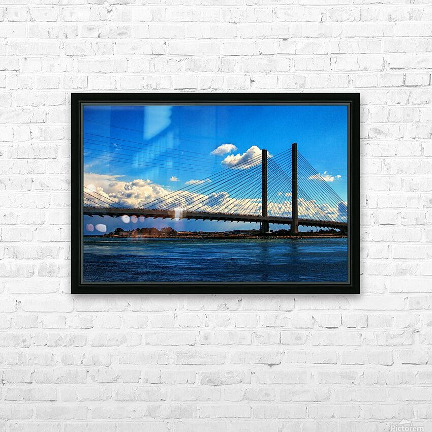 South Stanchions of the Indian River Inlet Bridge HD Sublimation Metal print with Decorating Float Frame (BOX)