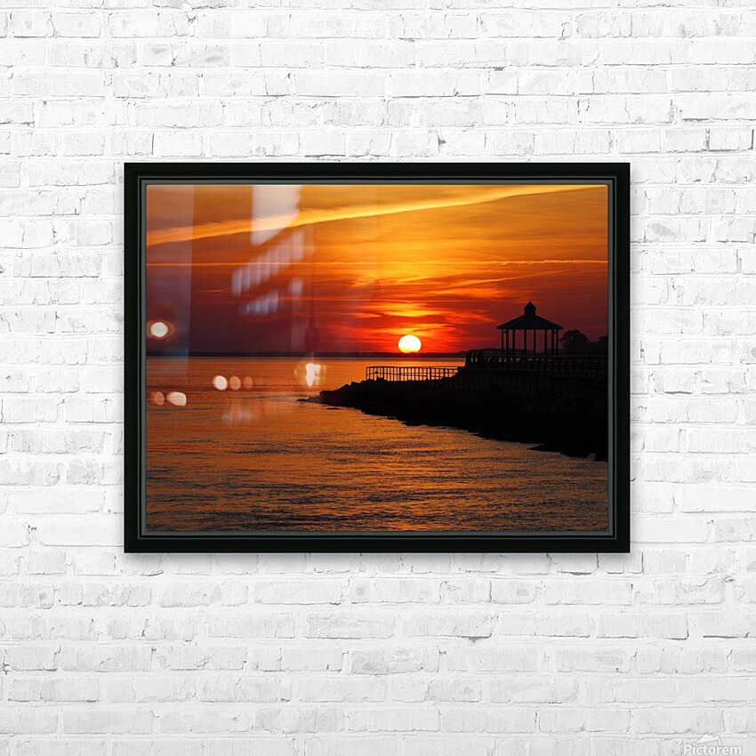 Sunset Over Indian River Inlet And Bay HD Sublimation Metal print with Decorating Float Frame (BOX)