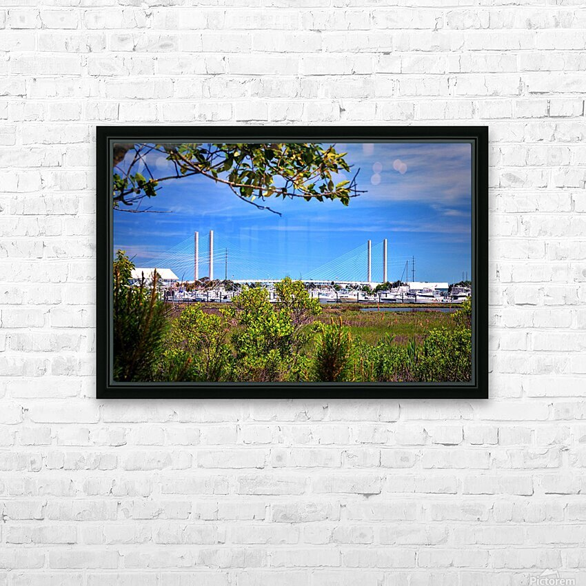 Burtons Boats and A Bridge HD Sublimation Metal print with Decorating Float Frame (BOX)