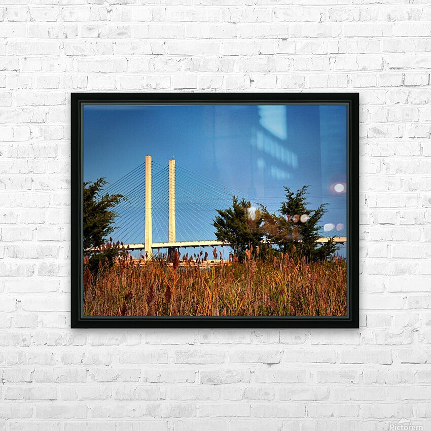 Indian River Bridge Stanchions Standing Tall HD Sublimation Metal print with Decorating Float Frame (BOX)