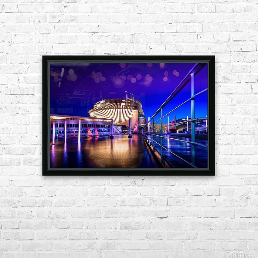 Montreal Casino At Night HD Sublimation Metal print with Decorating Float Frame (BOX)