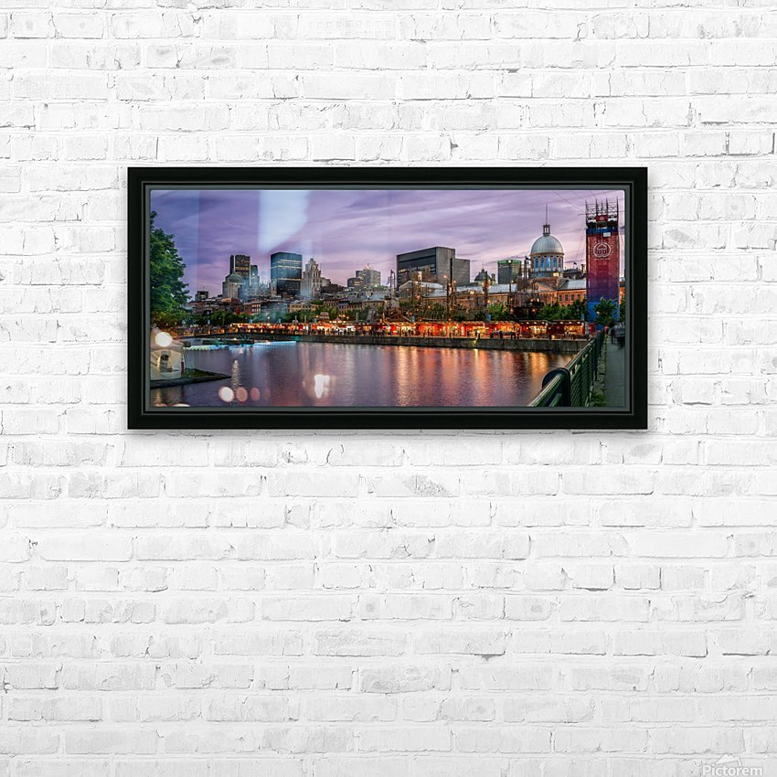 Old Port Of Montreal HD Sublimation Metal print with Decorating Float Frame (BOX)