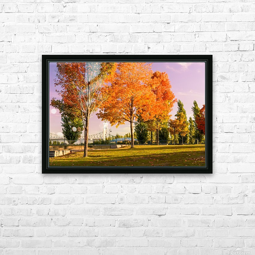 Autumn In The Old Port Of Montreal HD Sublimation Metal print with Decorating Float Frame (BOX)