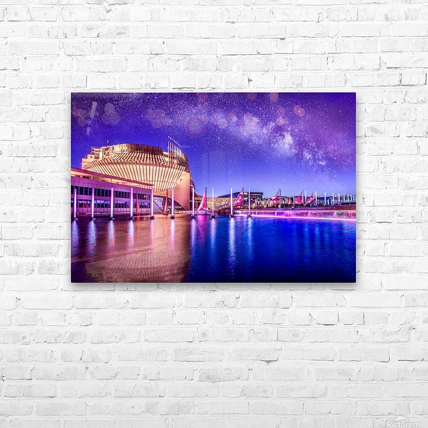 Casino Milky Way HD Sublimation Metal print with Decorating Float Frame (BOX)