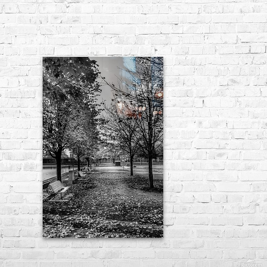 Old Port Of Montreal Autumn B&W HD Sublimation Metal print with Decorating Float Frame (BOX)
