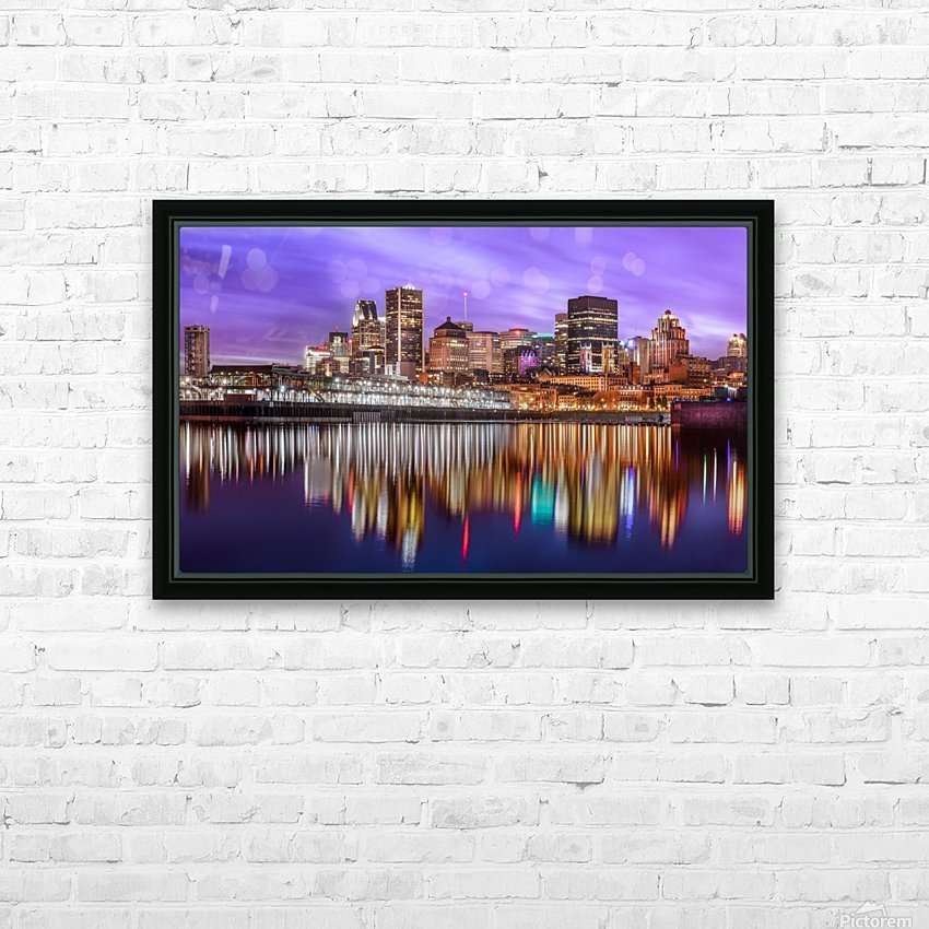 MTL Skyline HD Sublimation Metal print with Decorating Float Frame (BOX)