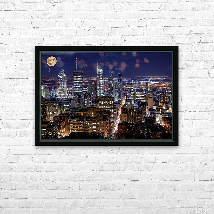 _TEL4529 Edit HD Sublimation Metal print with Decorating Float Frame (BOX)