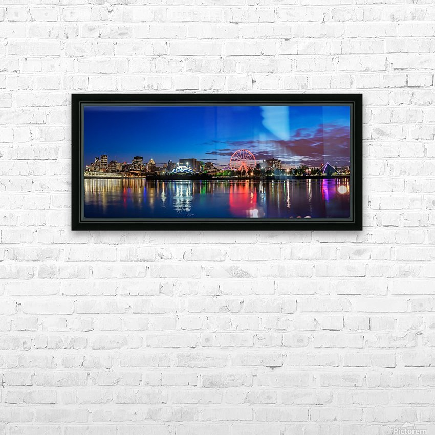 MTL Skyline_Panorama 2 HD Sublimation Metal print with Decorating Float Frame (BOX)