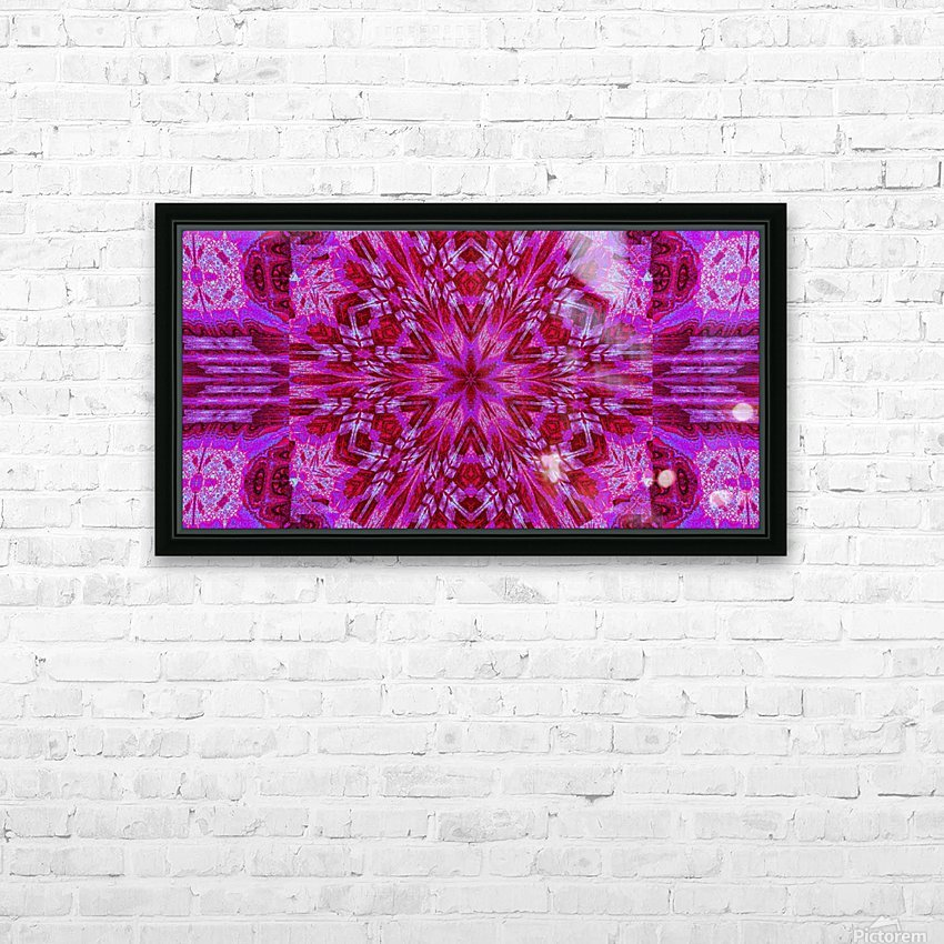 Wildflower in Pink Bloom HD Sublimation Metal print with Decorating Float Frame (BOX)