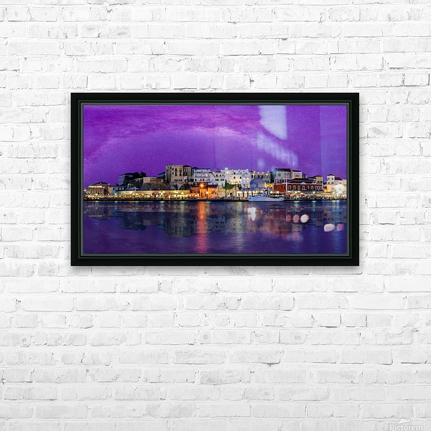 Chania Pano 2 HD Sublimation Metal print with Decorating Float Frame (BOX)