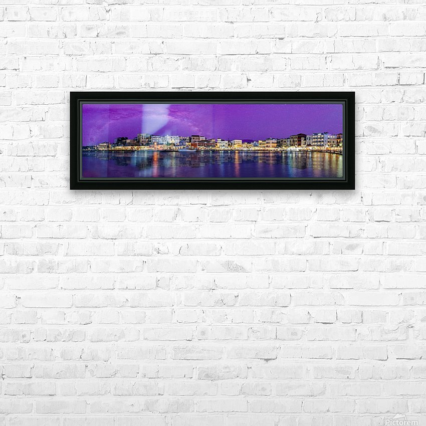 Chania Pano HD Sublimation Metal print with Decorating Float Frame (BOX)