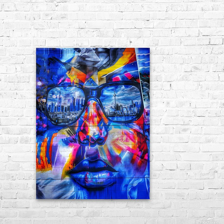Graffiti Face - Toronto HD Sublimation Metal print with Decorating Float Frame (BOX)