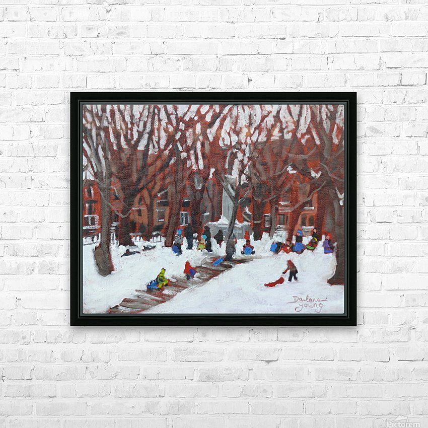 Park LaFontaine Tobogganing HD Sublimation Metal print with Decorating Float Frame (BOX)