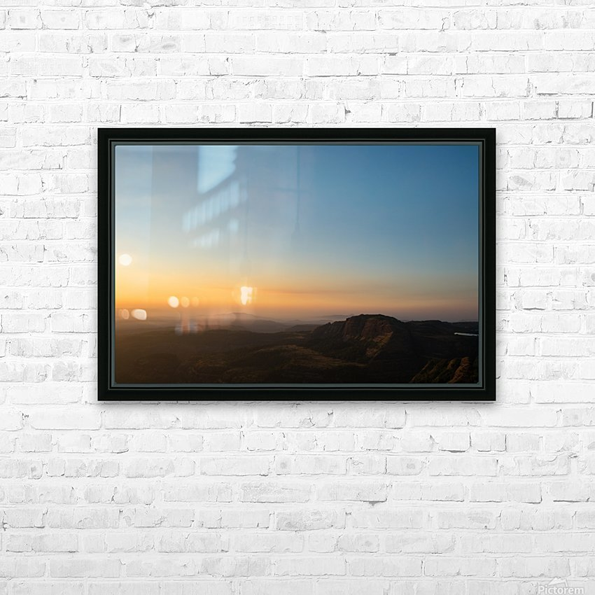 Calming Sunset HD Sublimation Metal print with Decorating Float Frame (BOX)