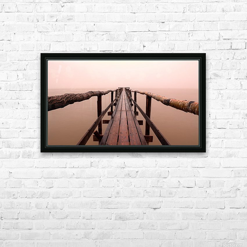 Enter The Lake HD Sublimation Metal print with Decorating Float Frame (BOX)