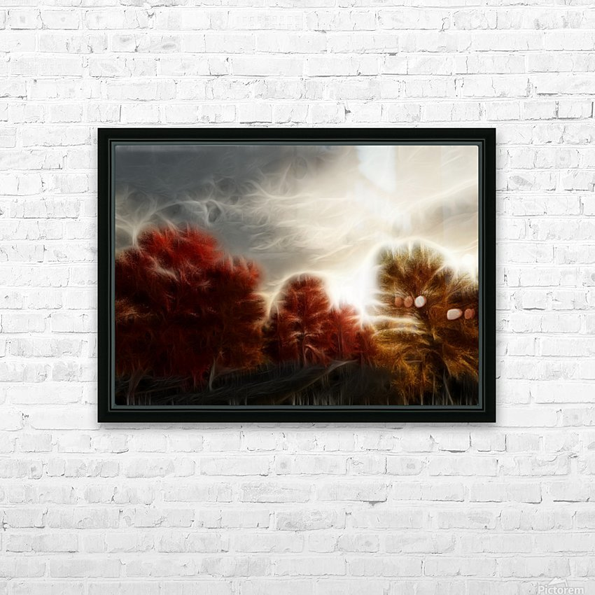 Impressionist Autumn Scene HD Sublimation Metal print with Decorating Float Frame (BOX)