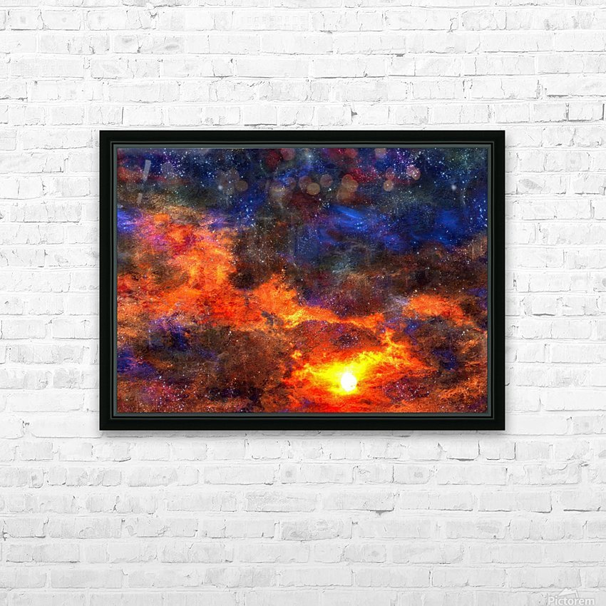 Twilight Scene HD Sublimation Metal print with Decorating Float Frame (BOX)
