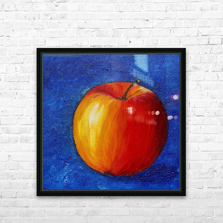 Red Apple - Still Life Painting HD Sublimation Metal print with Decorating Float Frame (BOX)