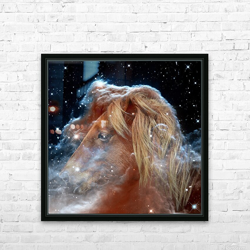 Horsehead Nebula with Horse Head in Space HD Sublimation Metal print with Decorating Float Frame (BOX)