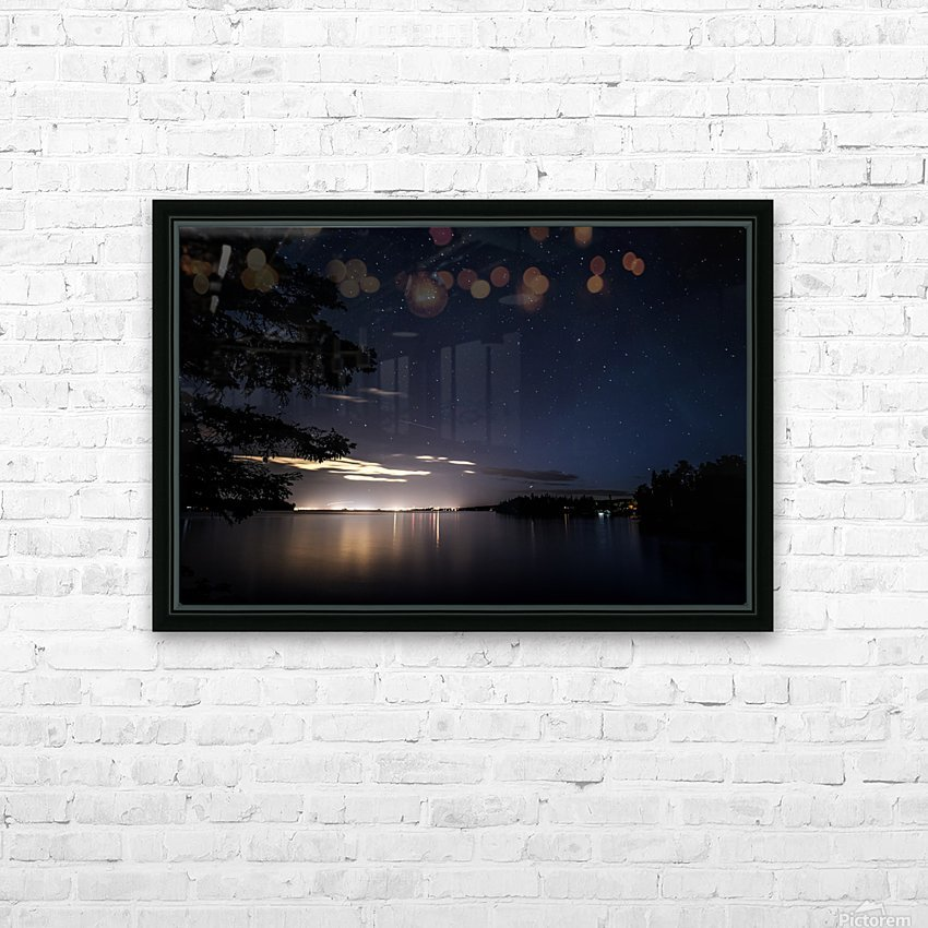 City Stars HD Sublimation Metal print with Decorating Float Frame (BOX)