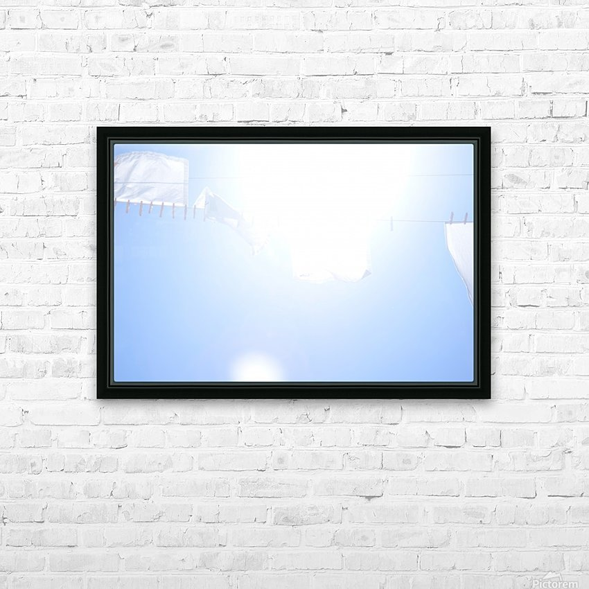 Laundry in the Wind HD Sublimation Metal print with Decorating Float Frame (BOX)
