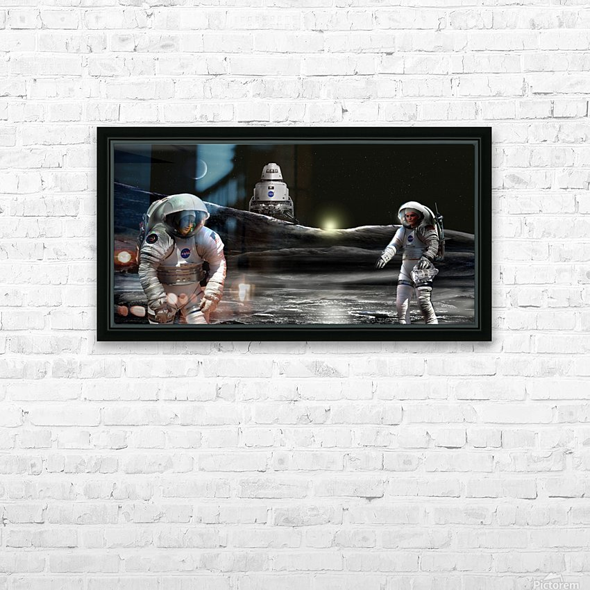 Shackleton Crater HD Sublimation Metal print with Decorating Float Frame (BOX)