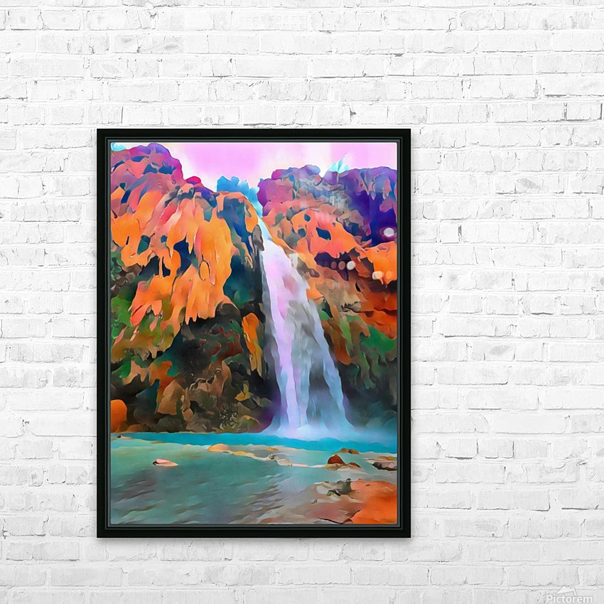 Havasupai Waterfall HD Sublimation Metal print with Decorating Float Frame (BOX)