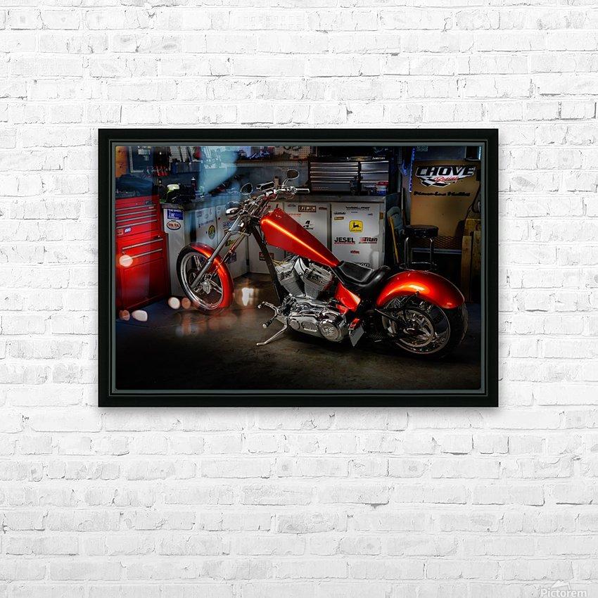 Bike Edit HD Sublimation Metal print with Decorating Float Frame (BOX)