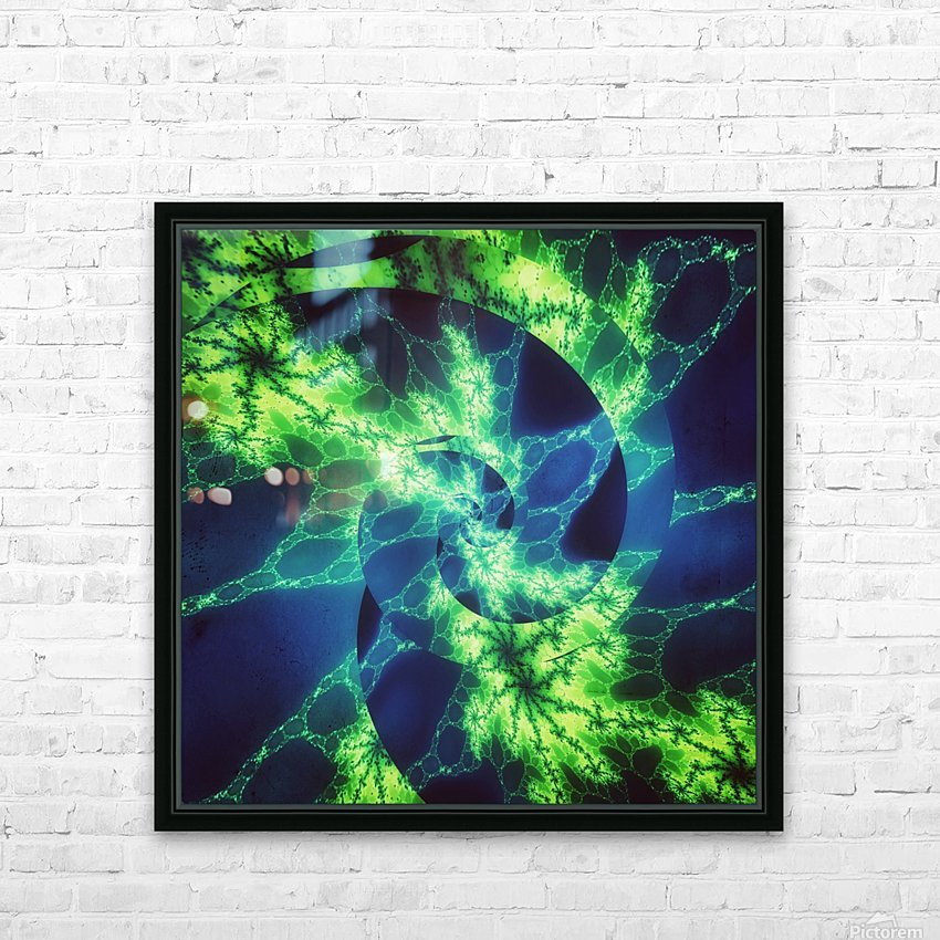 Neurospiral HD Sublimation Metal print with Decorating Float Frame (BOX)