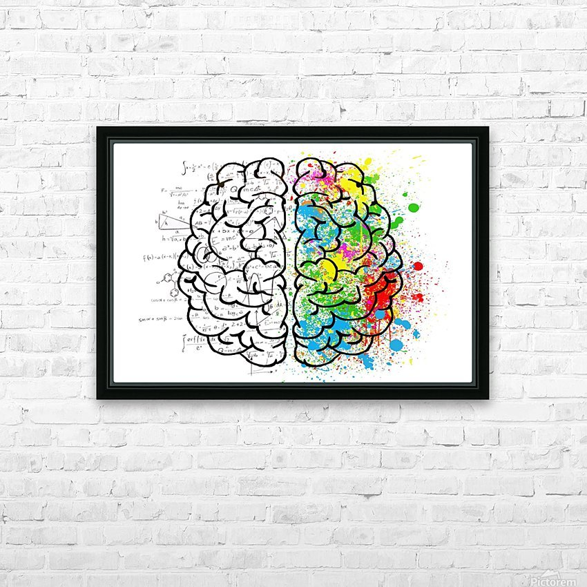 brain mind psychology idea drawing HD Sublimation Metal print with Decorating Float Frame (BOX)